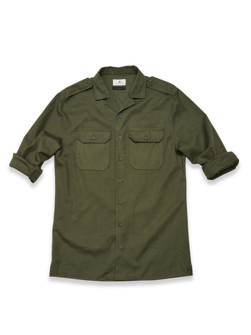 Massimiliano Military Shirt, Army Olive