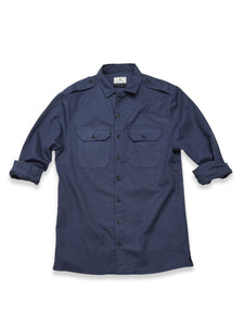 Massimiliano Military Shirt, Dk. Navy