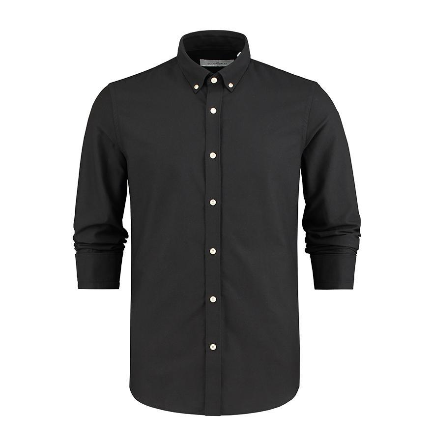 The Good People  Essential Oxford Shirt - Black
