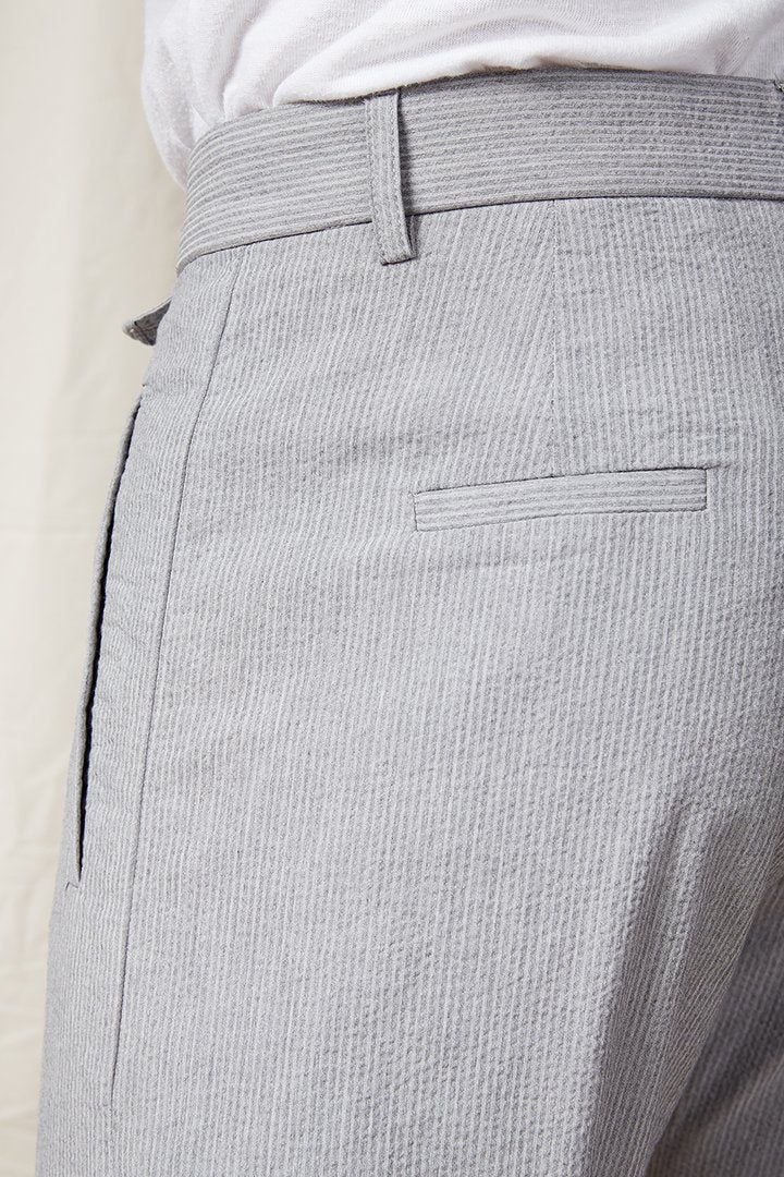 A.B.C.L. GARMENTS - Paul COOLMAX Seersucker 0114 - Grey