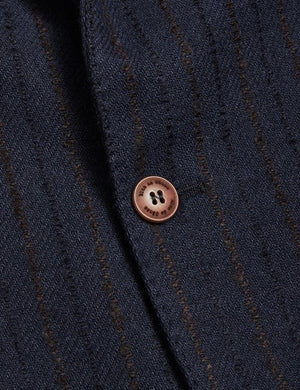 Leopardi Pilla Blazer Navy Stripe