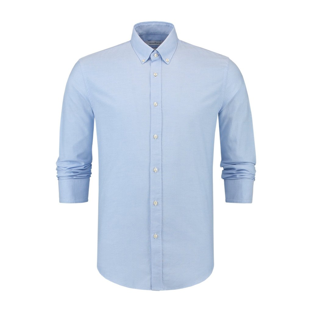 The Good People  Essential Oxford Shirt - Light Blue