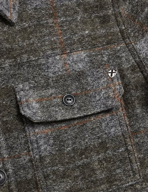 Folignio Checked Wool Overshirt