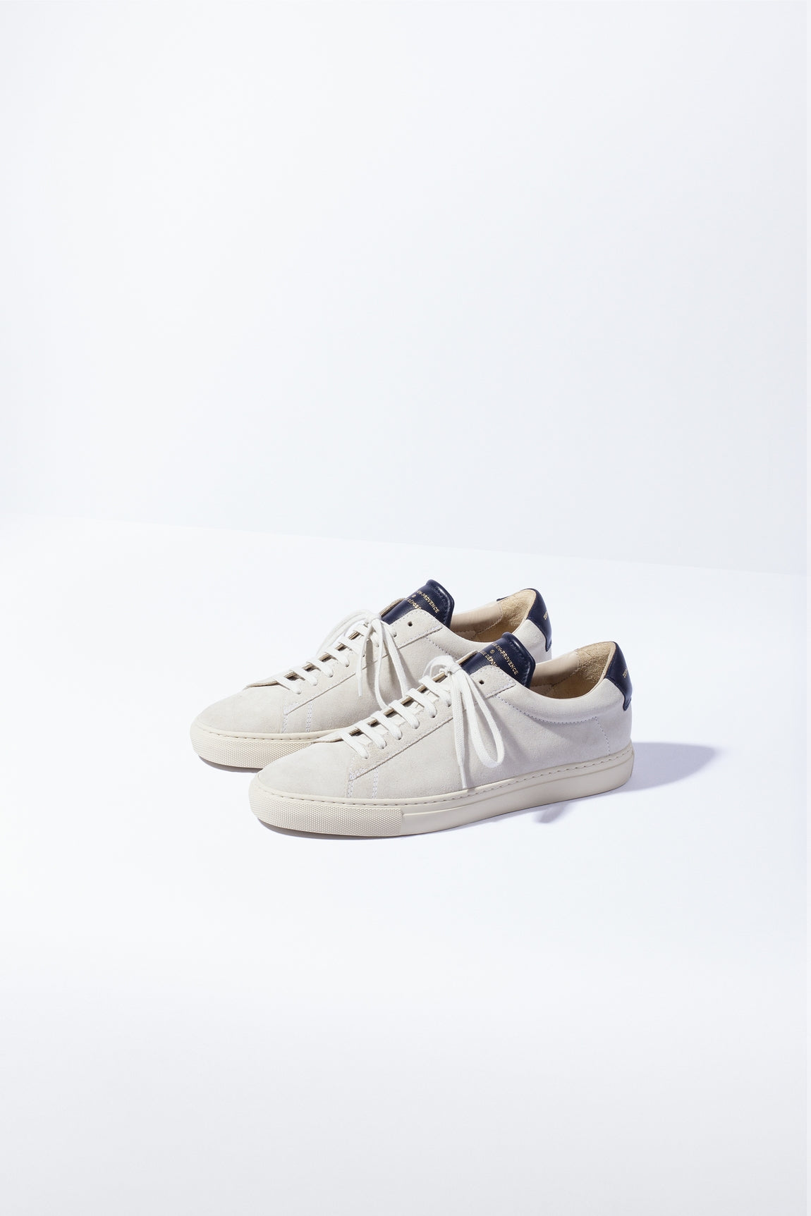 ZESPA - ZSP4. HGH APLA SUEDE  OFF WHITE / NAVY