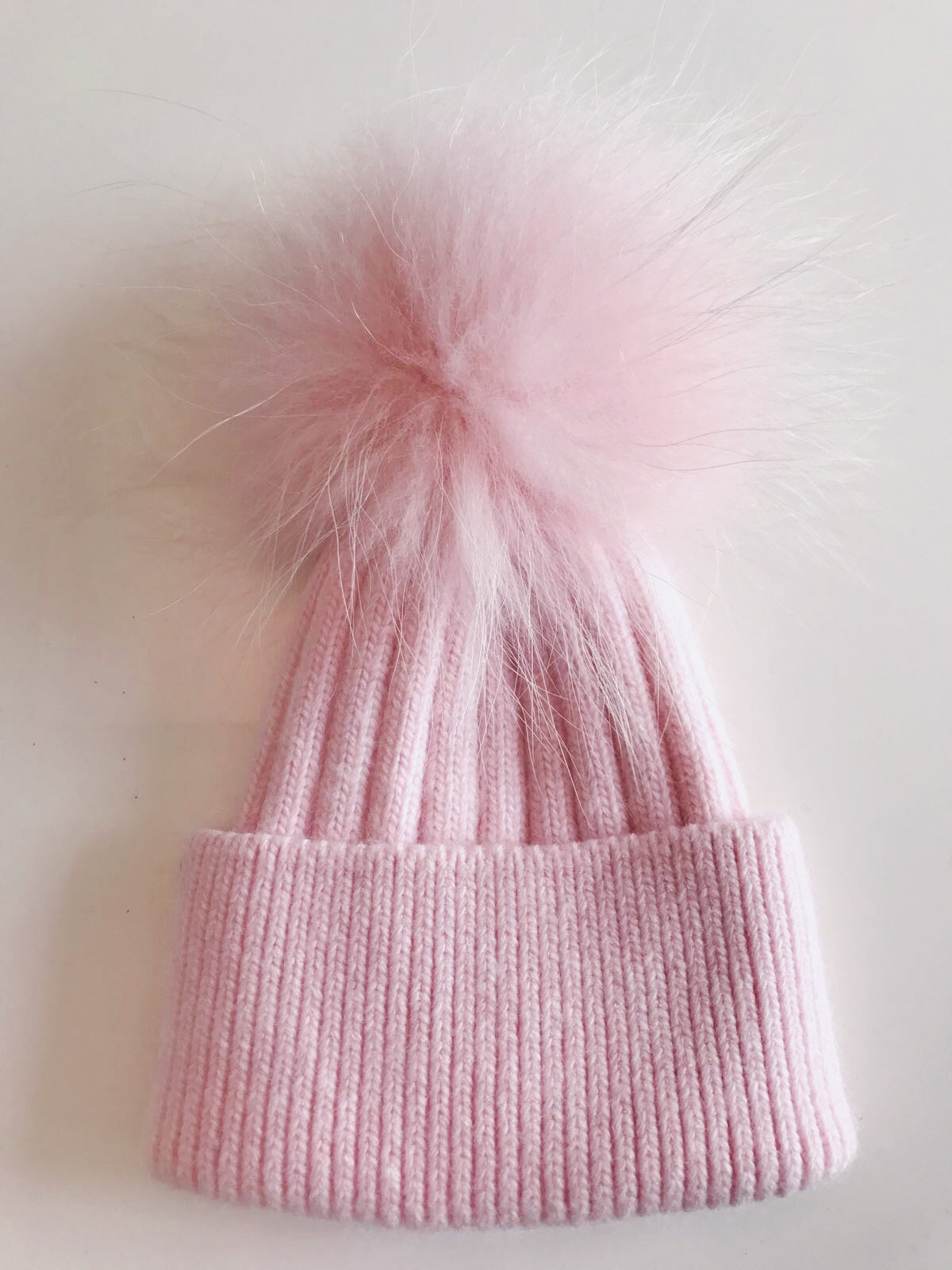 Baby Cashmere single - Baby Pink with matching pom