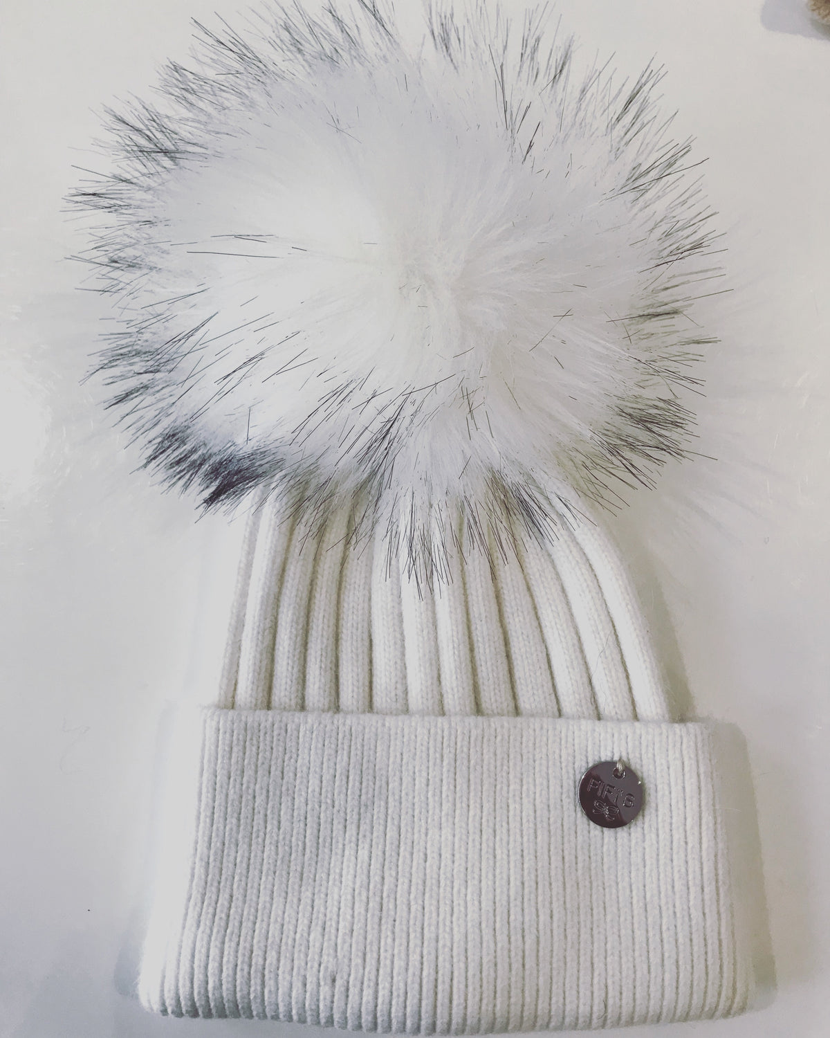 Adult cashmere Faux Fur - White