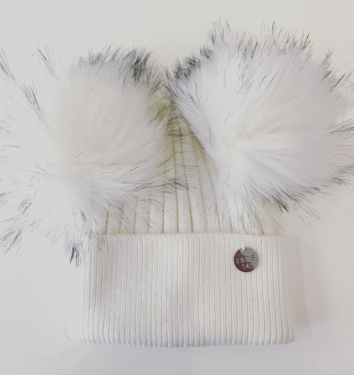 Adult cashmere Faux Fur - Double white