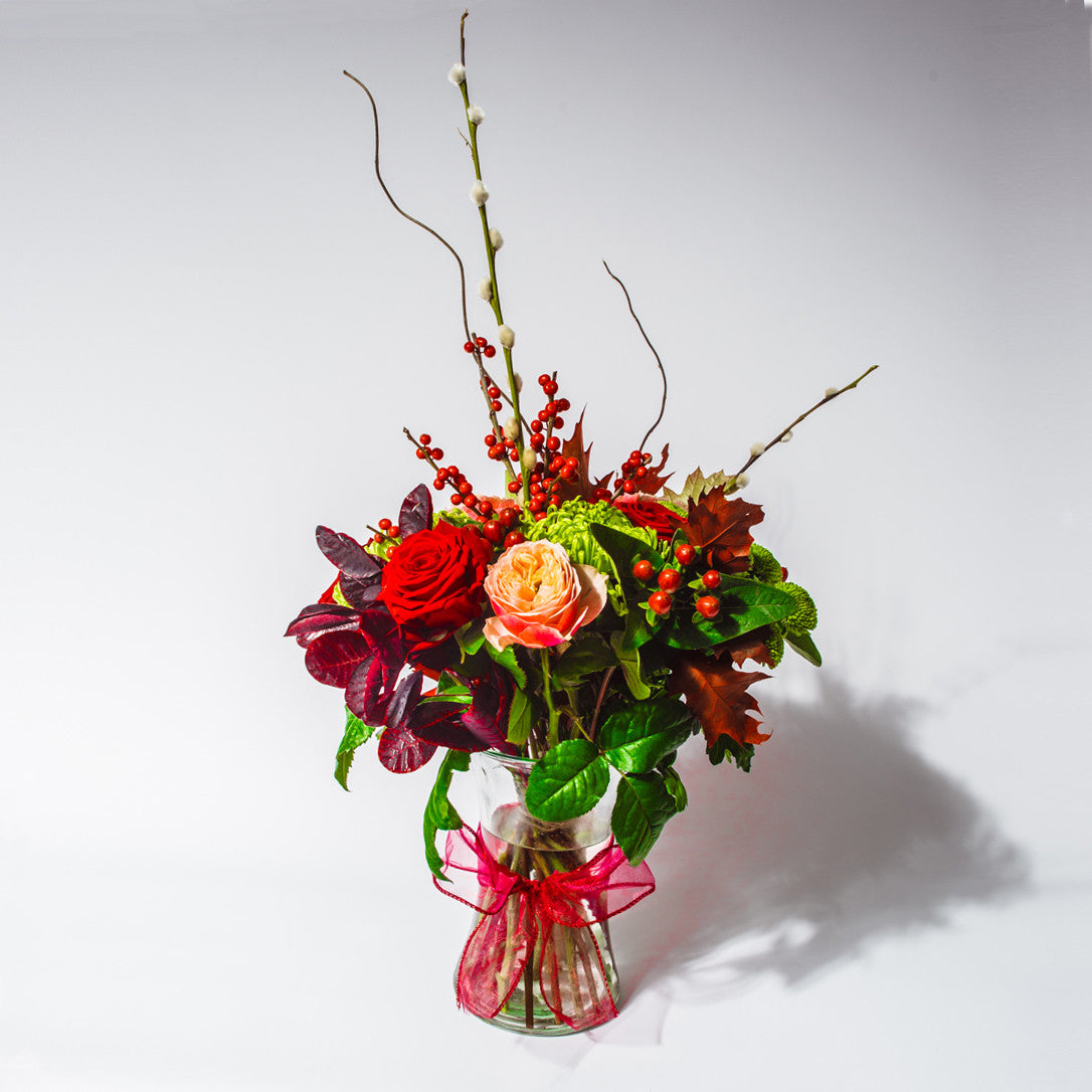 Festive, Christmas Flowers, Bouquet by XOXO Florist Aberdeen