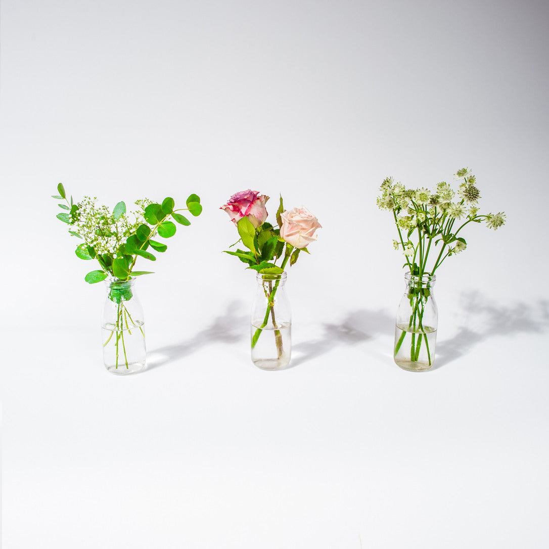 The Trio Milk Bottle - XOXO Florist Aberdeen