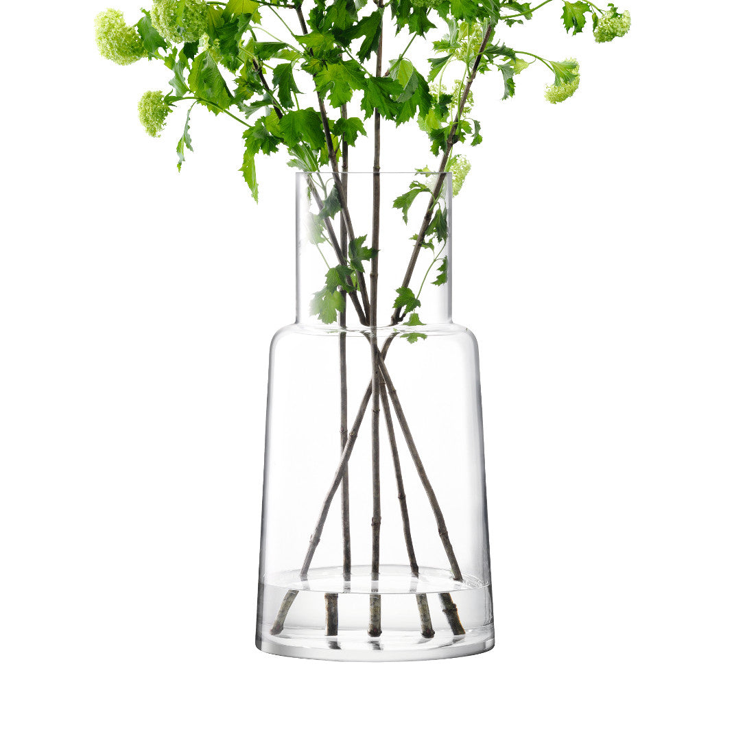 Chimney Vase Clear - Homeware, Glassware, LSA