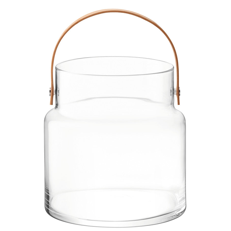 Clear Utility Pot & Leather Handle
