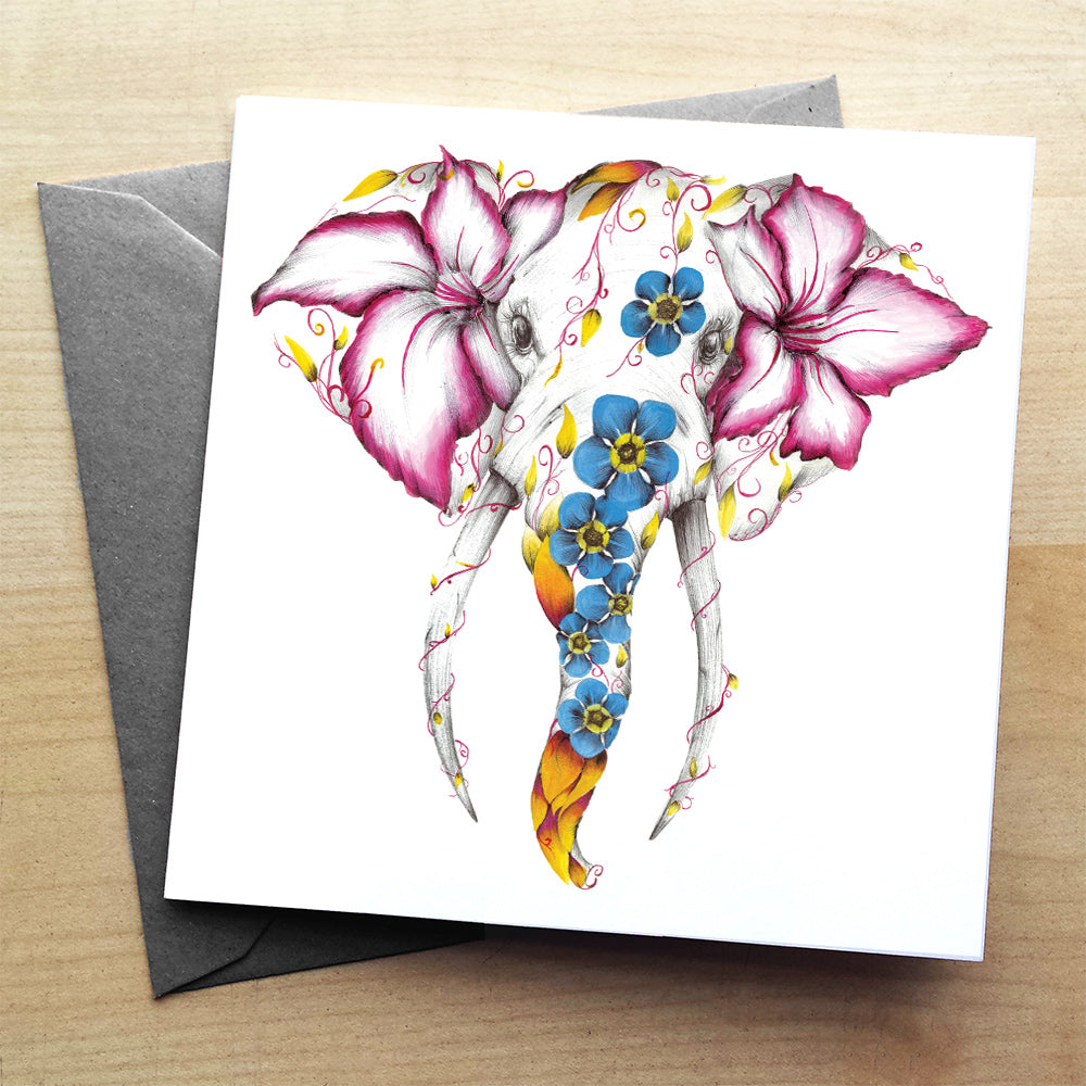 Elle the Elephant greeting card | XOXO Florist Aberdeen