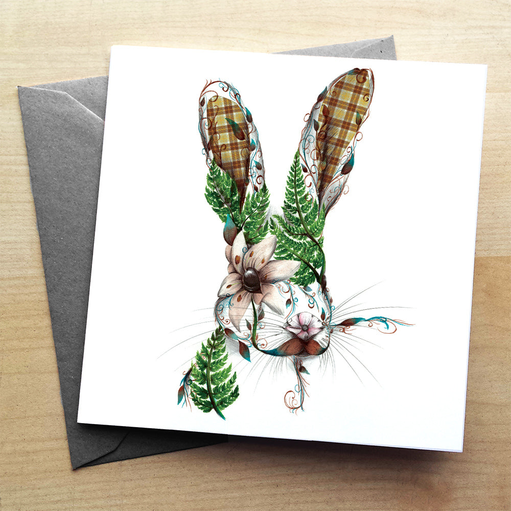 Harry the Hare premium greeting card | XOXO Florist Aberdeen