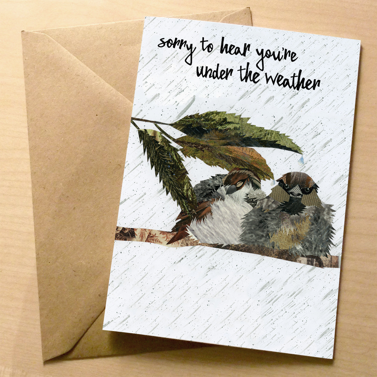 Under The Weather premium greeting card | XOXO Florist Aberdeen