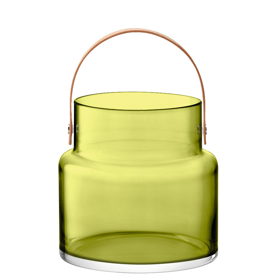 Olive Utility Pot & Leather Handle