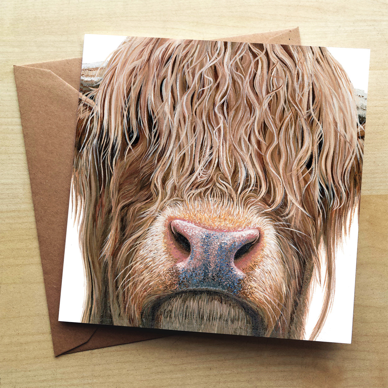 Highland Cow premium greeting card | XOXO Florist Aberdeen