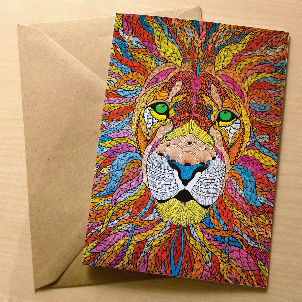 The Vibrant Lion Greeting Card | XOXO Florist Aberdeen