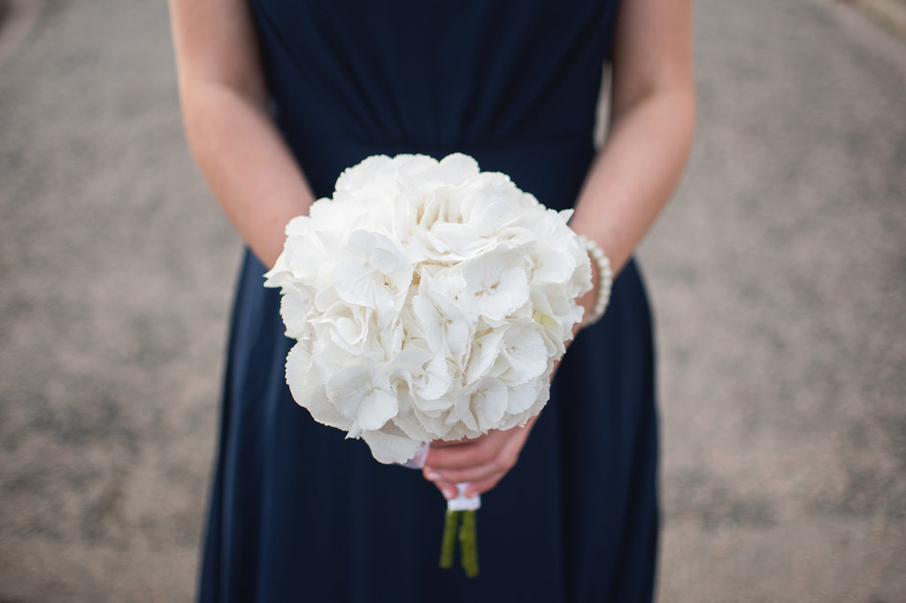 White Hydrangea Bridal Bouquets - Weddings Florist XOXO