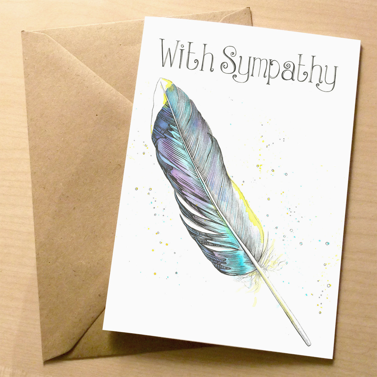 Feather Sympathy Card | XOXO Florist Aberdeen