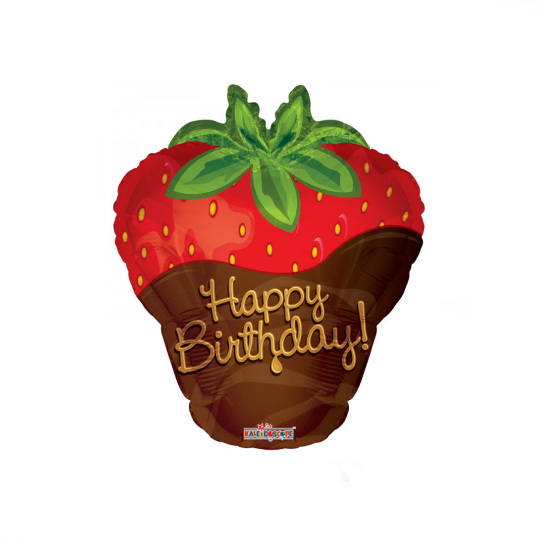 Chocolate Strawberry Helium Balloon - XOXO Florist Aberdeen