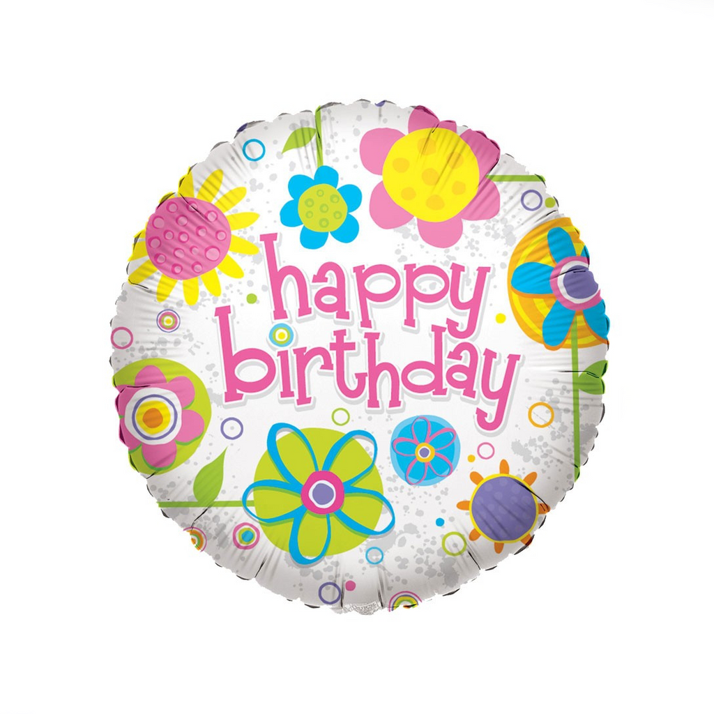 Happy Birthday Flower Balloon - XOXO Florist Aberdeen