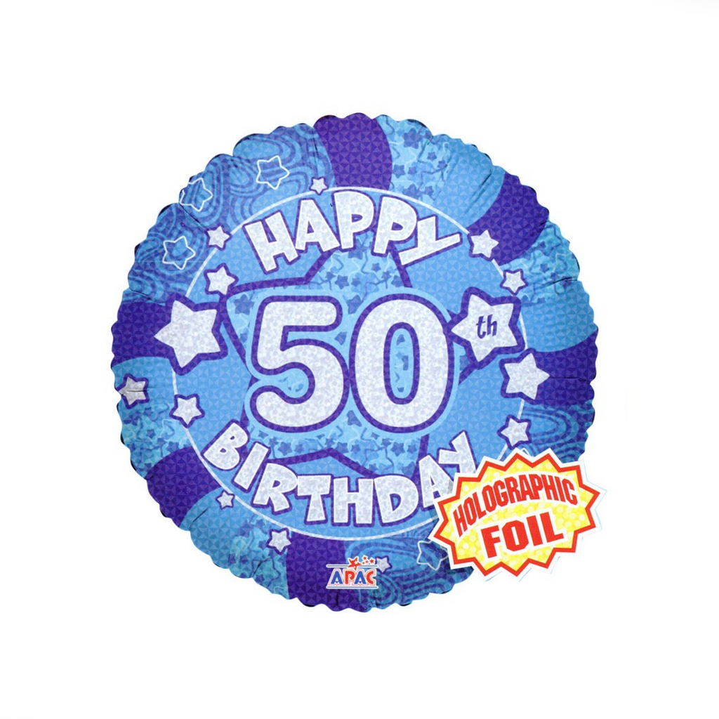 Happy 50th Birthday Balloon - XOXO Florist Aberdeen