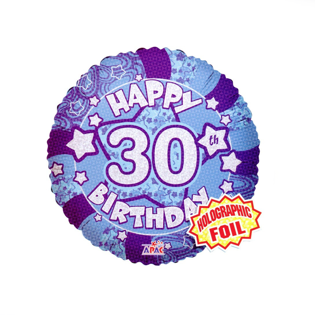 Happy 30th Birthday Balloon - XOXO Florist Aberdeen