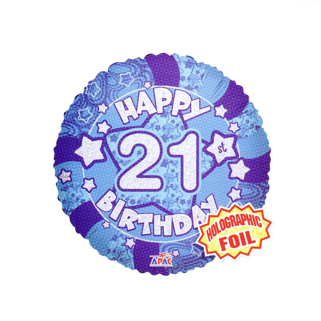 Happy 21st Birthday Balloon - XOXO Florist Aberdeen