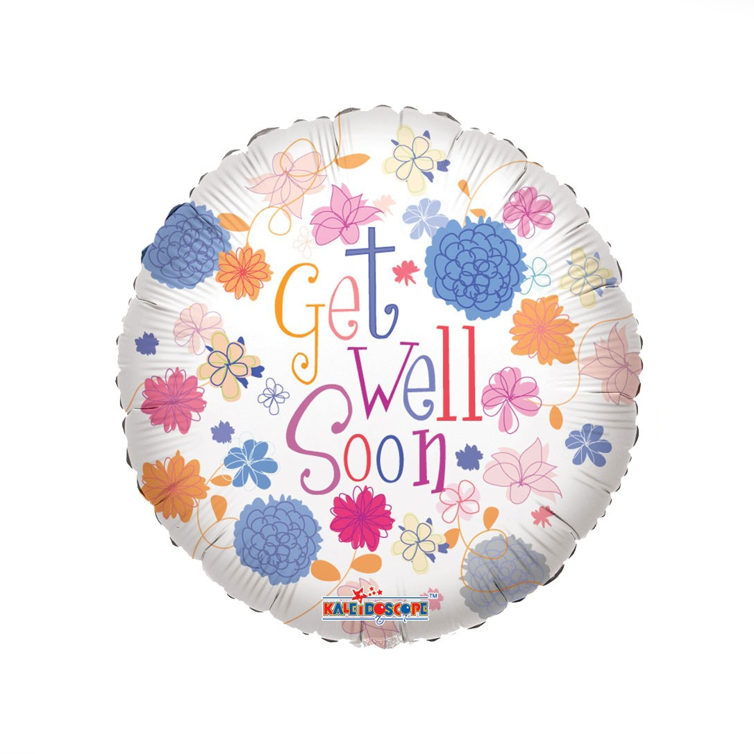 Get Well Soon Flower Balloon - XOXO Florist Aberdeen