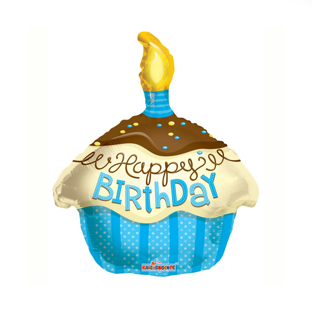 Happy Birthday Cupcake Helium Balloon | XOXO Florist Aberdeen