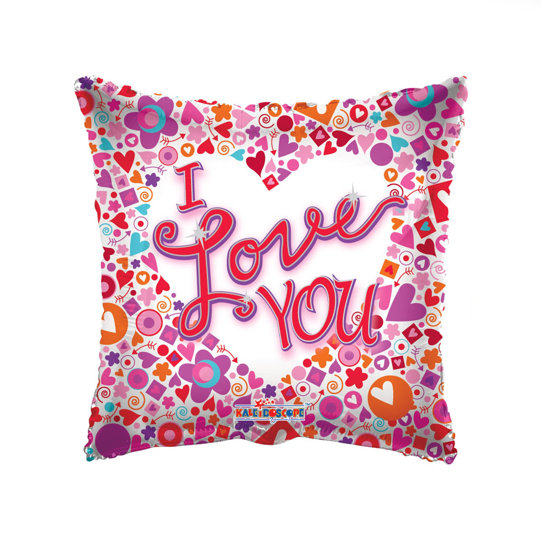 I Love You Colourful Balloon - XOXO Florist Aberdeen