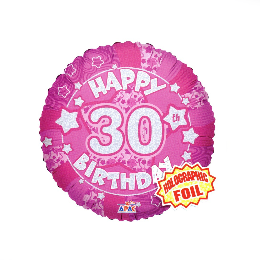 Happy 30th Pink Balloon - XOXO Florist Aberdeen