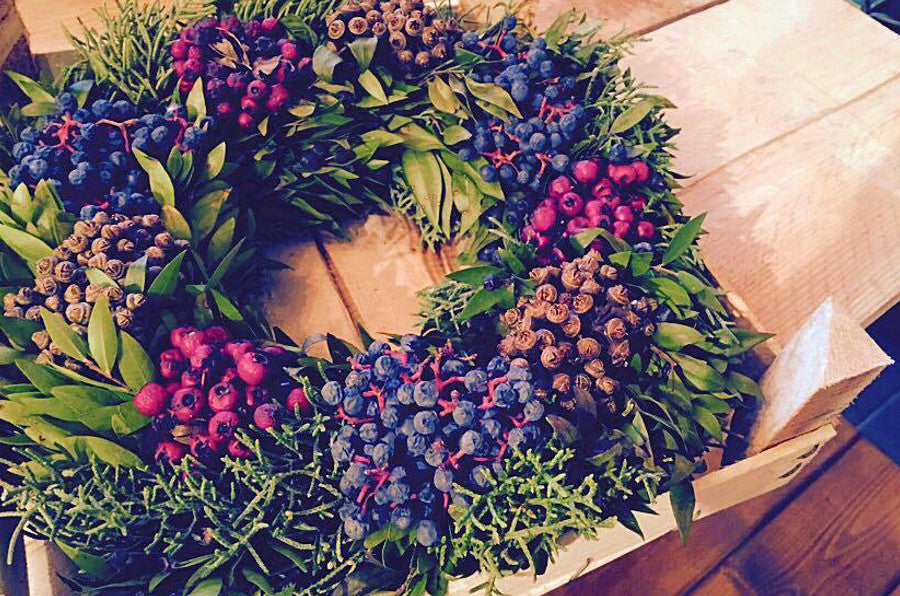 Mixed Berry Christmas Wreath