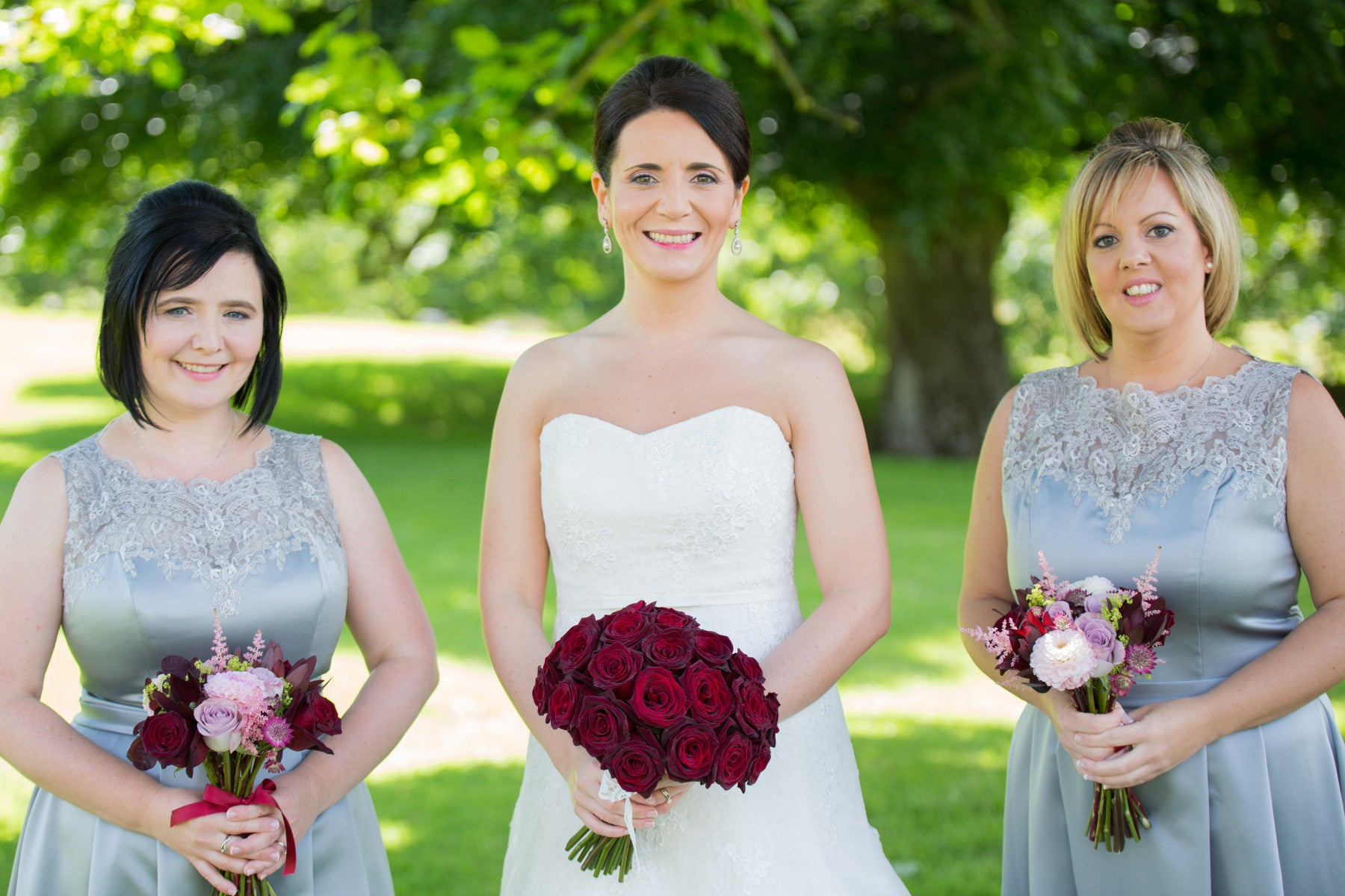 Black Bacarra Rose Bridal Hand-tied with Bridesmaids - XOXO Florist