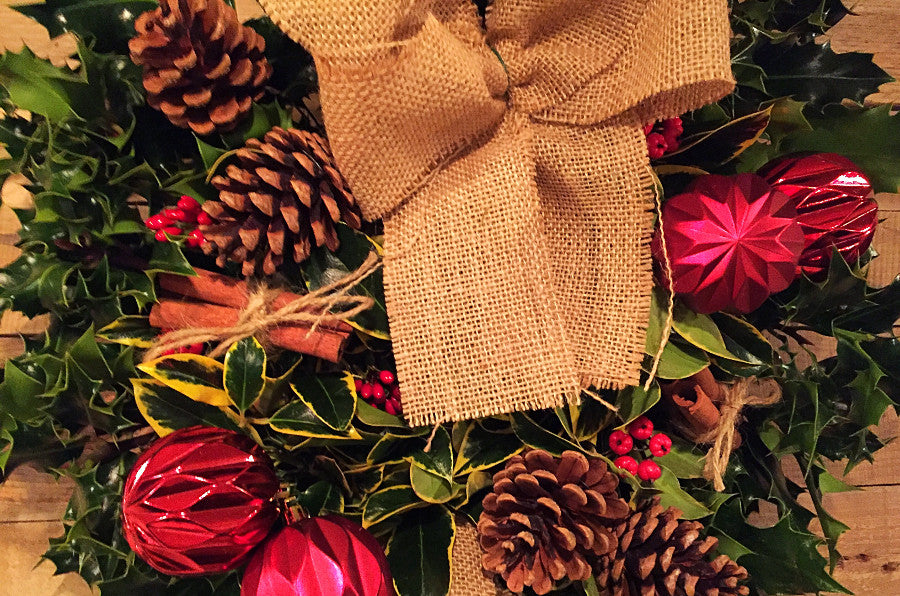 Traditional Hessian Christmas Wreath