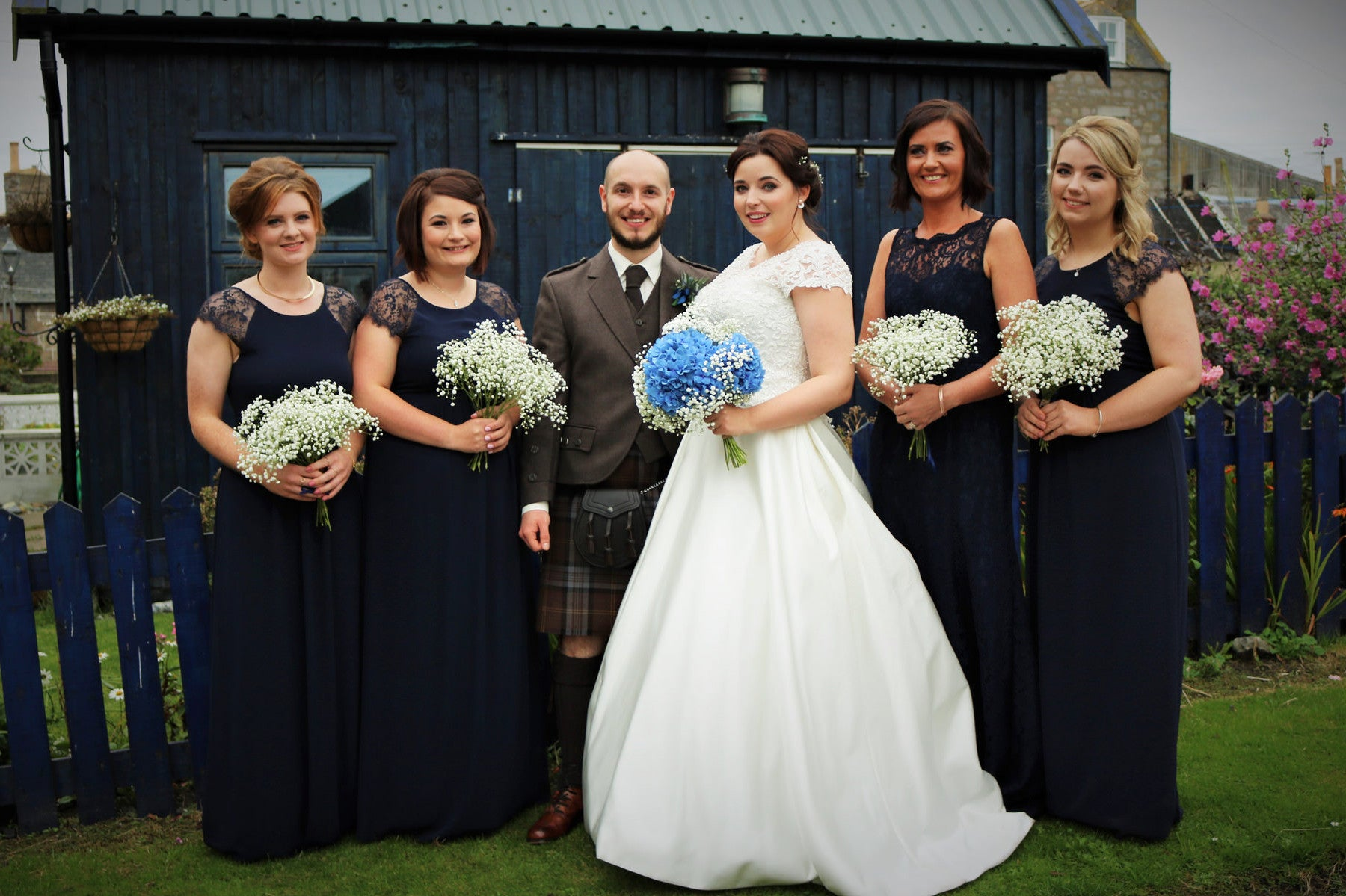 Bridal Party at Marshall College - XOXO Florist