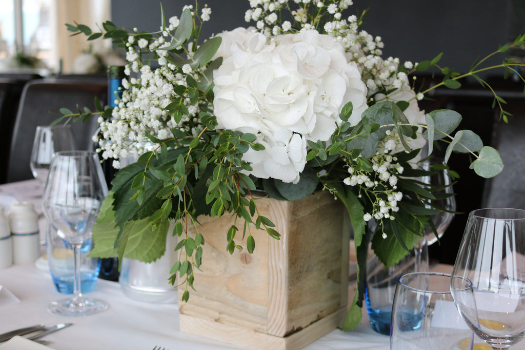 Hydrangea Table Centre XOXO Florist Aberdeen