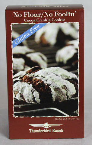 No Flour/ No Foolin Cocoa Crinkle Cookie