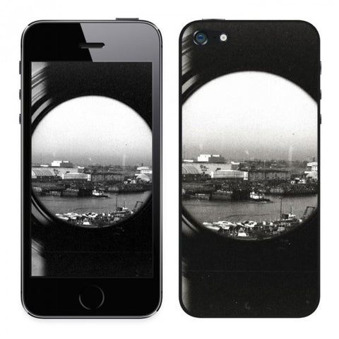 Joli sticker pour iPhone 5 photo New York Port Liberty