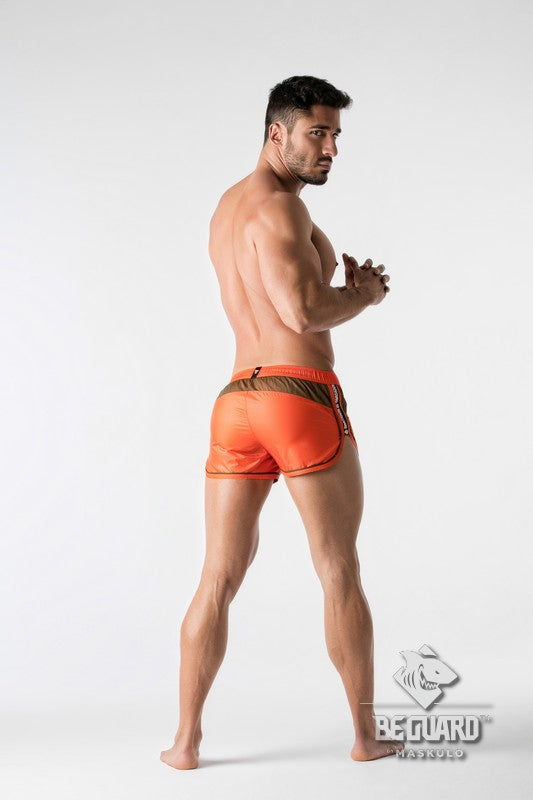 BeGuard. Nylon Club Shorts with Contrasting Mesh Inserts