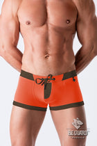 Beach Guard. Swimming Trunks with Zip Imitation on the Front