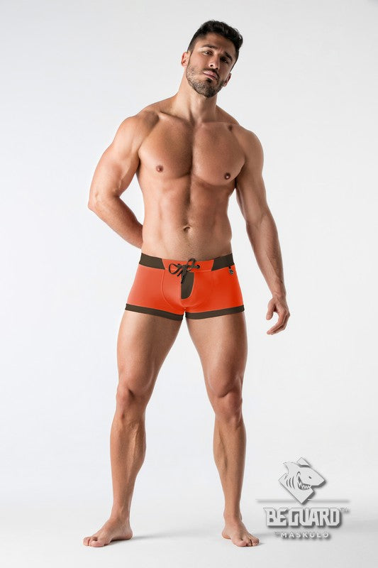BeGuard. Swimming Trunks with Zip Imitation on the Front