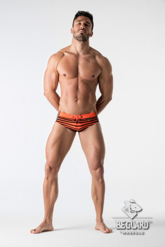 BeGuard. Swimming Briefs with Optical Print