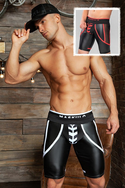 Skulla. Men's Fetish Cycling Shorts