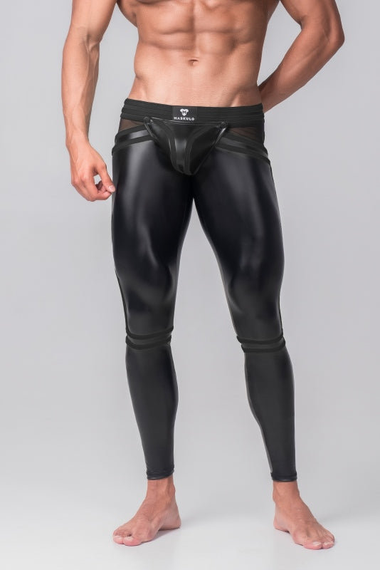 Youngero Generation Y. Men's Fetish Leggings. Codpiece. Zippered Rear