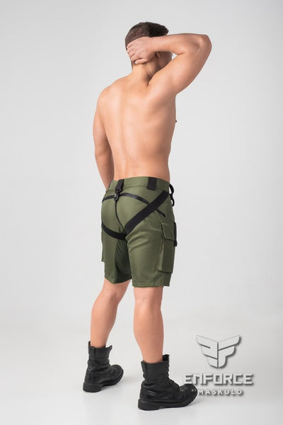 EnForce. Two-Sides Zippered Shorts