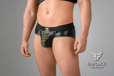EnForce. Shot Belt Codpiece Briefs. Regular Rear