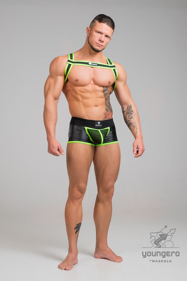 Youngero. Bulldog Rubber Harness. Neon