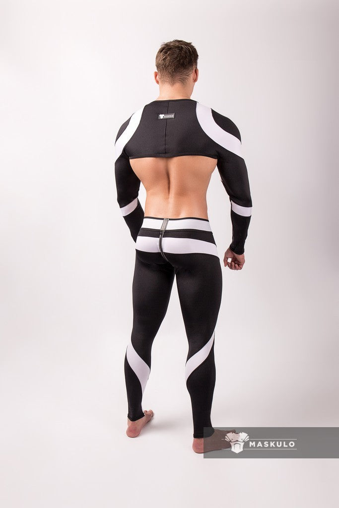 Youngero. Men's Fetish Crop Top. Spandex. Long Sleeves