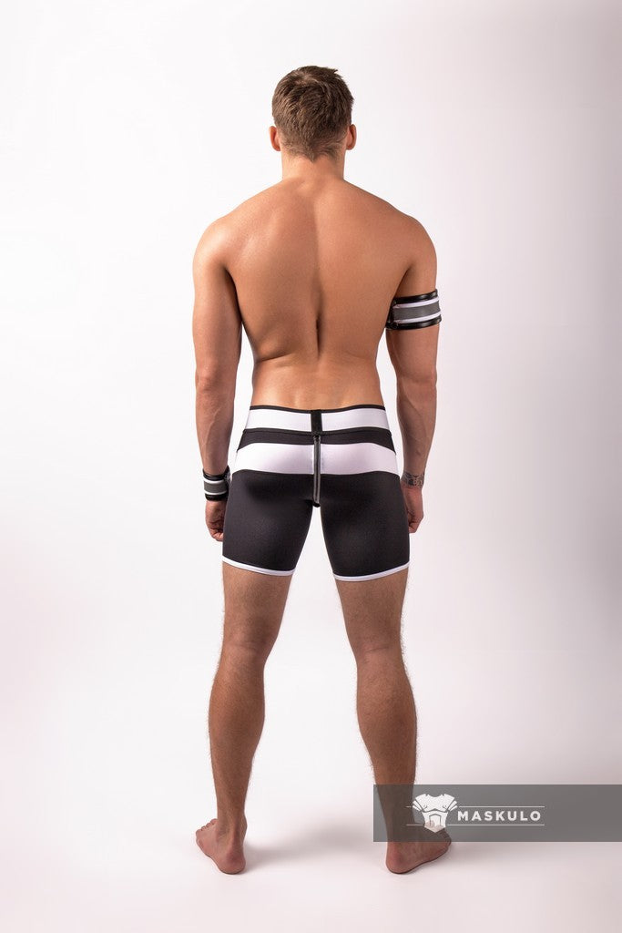 Youngero. Men's Fetish Cycling Shorts. Codpiece. Zipped Rear